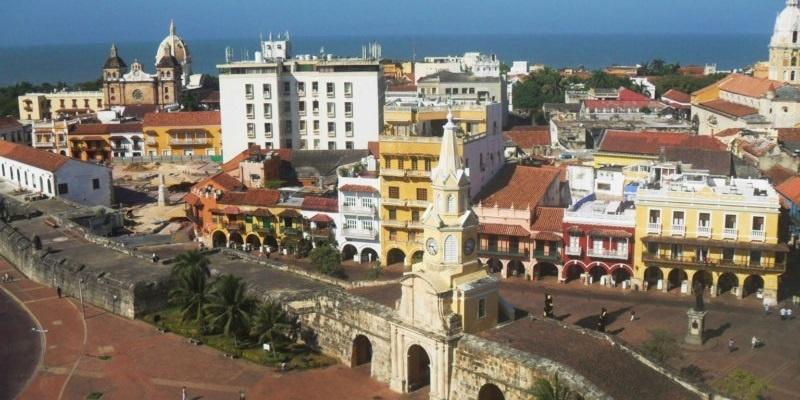 Vista Aérea Torre del Reloj Cartagena