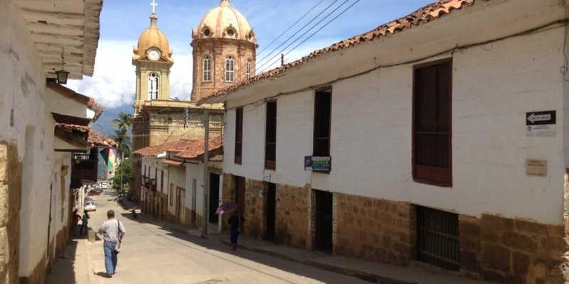 Calle en Socorro Santander